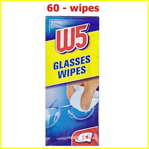 60Reinigungstücher W5geeignet zur Reinigung von Brillen, Kameras, Ferngläsern, Autospiegeln, Helm-Visieren, Computern, Fernsehern, Mobiltelefonen, iPhone oder Android