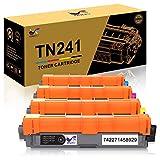 ONLYU TN241 TN245 Compatible pour Brother HL-3140CW HL-3150CDW HL-3170CDW HL-3142CW HL-3152CDW HL-3172CDW DCP-9015CDW DCP-9020CDW MFC-9130CW MFC-9140CDN MFC-9340CDW MFC-9330CDW(1B/1C/1M/1Y)