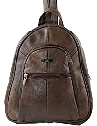 7c03e42182 NEW LADIES GIRLS REAL LEATHER SMALL MEDIUM SIZED RUCKSACK BACKPACK STYLE  HANDBAG