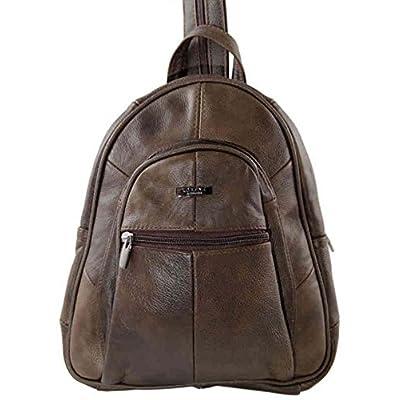 Ladies Genuine Leather Backpack/Rucksack with Grab Handle (Black, Brown, Beige, Navy, Tan) - fashion-backpacks