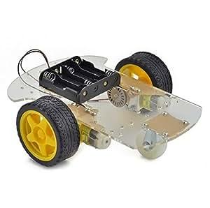 INSMA Smart Motor Robot Car Chassis Kit velocità dell'encoder Battery Box per Arduino