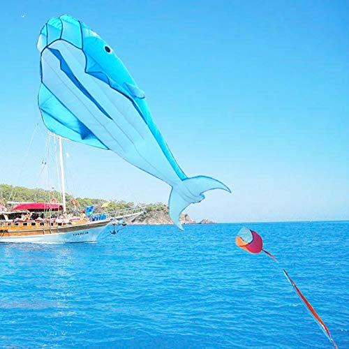 Delphine Drachen Spielzeug 3D riesige Delfine fliegen Drachen weiche Flügel Regenschirme riesigen blauen Drachen einfach zu Sport Drachen Fallschirm fliegen, A ()