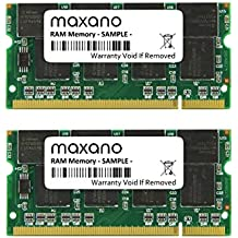 2 GB Dual Channel kit (2 x 1 GB) para Acer TravelMate 4001 WLMi DDR333 PC2700 So DIMM Memoria de trabajo