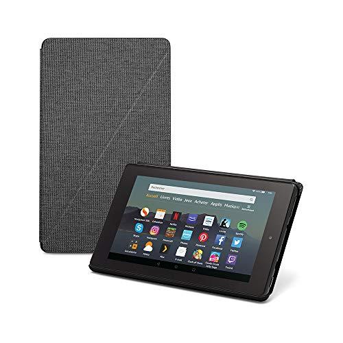 Étui pour tablette Fire 7 (compatible avec les appareils de 9ème génération, modèle 2019), Noir anthracite