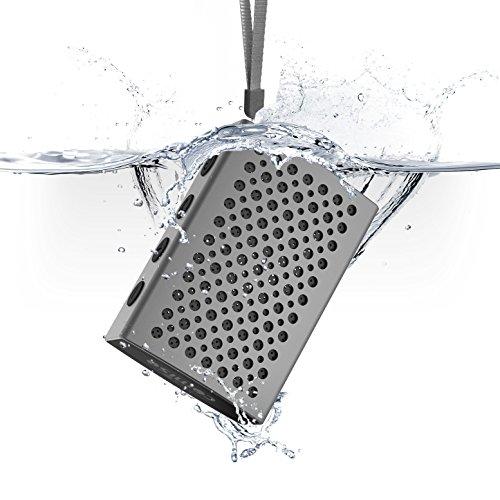 Altavoz Bluetooth, COMISO [Halo Audio] [Gris espacial] - [Aluminio de Lujo] [Impermeable...