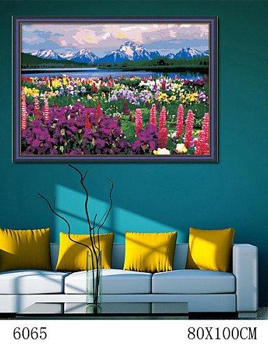 KK&MM pittura a olio digitale di grande formato diy senza famiglia cornice pittura divertimento tutto da solo bella primavera 6065, xl (Belle Sole)
