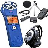 Zoom H1BL Enregistreur stéréo Bleu + aph1Set d'accessoires + Casque keepdrum
