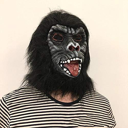 Circlefly Halloween-Schimpansen Maske Fratze Horrormaske Ostern Kostüm Prom verrückte Perücke