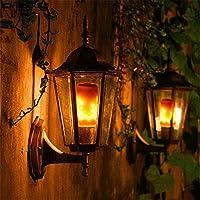 Awhao 5W lámpara de llama simulada luz LED efecto de fuego parpadeante lámpara antorcha decoración de Navidad luz decorativa para barra casa embrujada (A:E14)