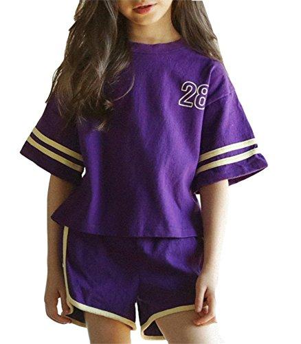 Shorts Ärmel Outfit Kleidung Set Größe 3-9 Alter ()