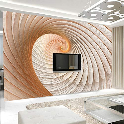 Sucsaistat Tapete Wandbild 3D Moderne Abstrakte Geometrie Kunstwand Wohnzimmer Galerie Dekoration Für Wände, 200 cm (B) X 140 cm (H) - Moderne Damast-galerie