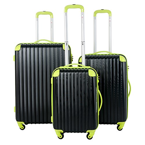 Travelhouse Hard Shell Travel Luggage Set of 3 TSA Locks Lightweight suitcase On Wheels Holdall (20/24/28 inch)