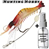 #4: Shrimp With Hook Free Fish Attractant Use In Fishing Rod Reel