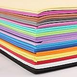 #8: HITSAN 32PCS A4 2mm Foam Sheets Sponge Paper DIY Foam Flower Craft Material DIY Jewelry 16 Color