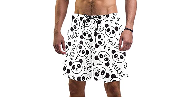 LORVIES Mens Music Doodle Beach Board Shorts Quick Dry Swim Trunk
