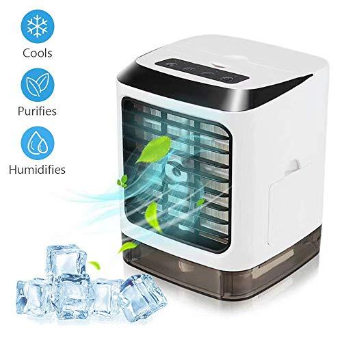 YHONG Mini Portatile Condizionatore, USB Air Cooler Climatizzatore Freddo Raffrescatore Evaporativo Compatto con Umidificatore e Purificatore d'Aria Adatto