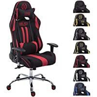 CLP Silla Racing XL Limit V2 Tapizada en Tela I Silla Gaming con Soporte Metal I