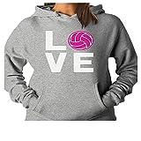ZMvise Love Volleyball Best Gift Idea for Volleyball Lovers unisexe fille garçon hommes femmes gilet sweat - shirts