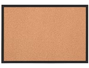 Rexel - Tableau en liège Quartet 585 x 430 mm, cadre plastique Noir