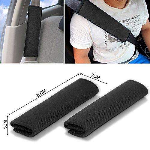 2protectores acolchados para cinturón de seguridad JJOnlinestore. Ajuste universal y gran comodidad