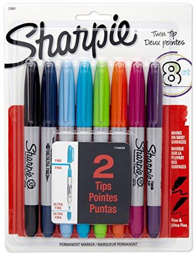 sharpie-twin-tip-permanent-marker-sehr-feine-spitze-schwarz-8er-pack-farblich-sortiert