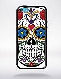 Générique Coque Tete de Mort 1 Compatible Apple iphone 5c Bord Noir Silicone