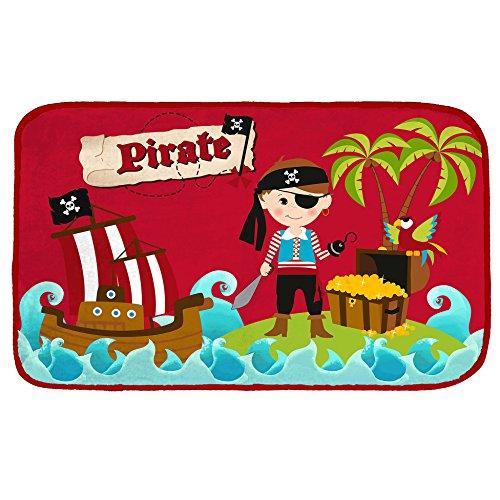 Incantevoli serie–pirati/pirata nero–tenda/tenda oscurante e traslucido, tesoro, biancheria da letto e tappeto, immaginazione volles design, poliestere, teppich 45 cm x 75 cm