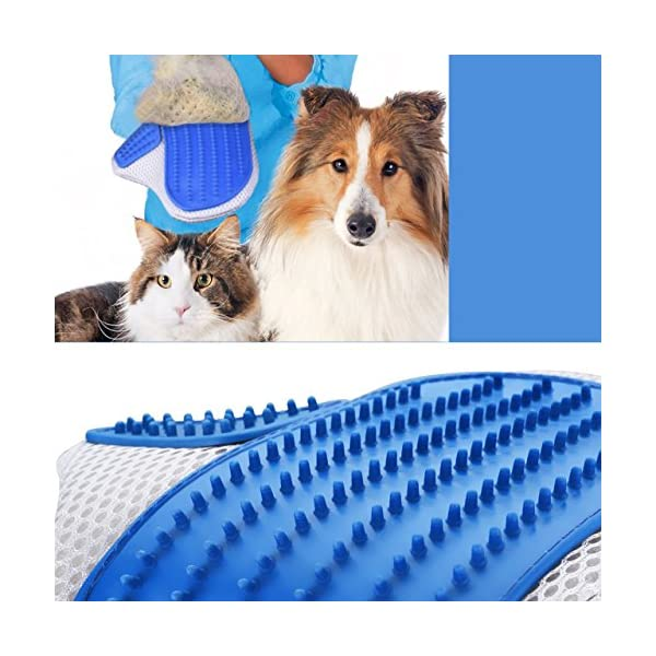 OMorc 2 Pack Pet Deshedding Grooming Glove 5