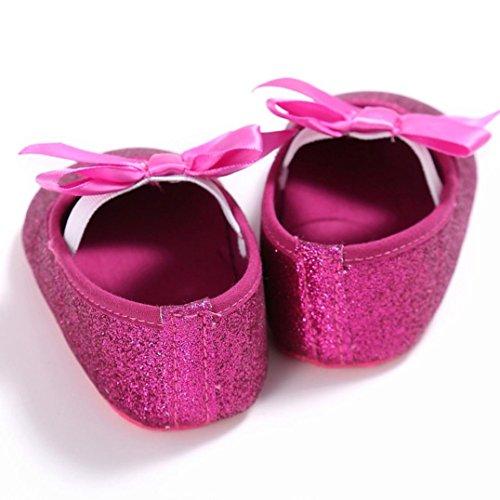 Saingace Kleinkind Mädchen Krippe Schuhe Neugeborene Blume Soft Sohle Anti-Rutsch Baby Sneakers Hot Pink