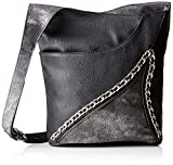 Rieker H1406, Women's Cross-Body Bag, Black (Schwarz/Altsilber), 10x30x30 cm (B x H T)