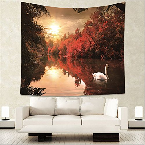 Wlid Tiere der Afrikanischen Savanne Wandbehang Wandbild der König Löwe Flamingo Giraffe gedruckt Tapestry Room