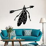 ALLDOLWEGE Das Wohnzimmer Wand - Indian feather Stein kunst Poster Schlafzimmer abnehmbare Dekorative Wandmalerei.