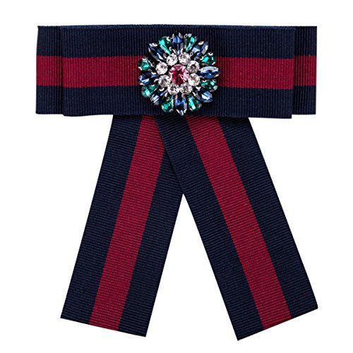 WKAIJCJ Brooch Pin Women Bow Tie Accessories Fashion Temperament Canvas 11.8 * 13.5cm