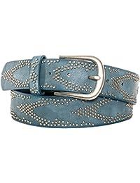 Gadzo® Damen Gürtel Nieten Vintage Look kürzbar teil Leder Kamari16