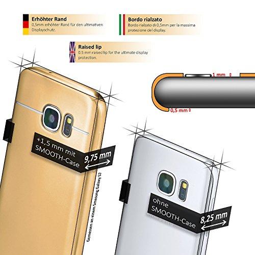 iPhone 6S Hülle Silikon Gold [OneFlow Smooth Back-Cover] Chrom Matt Silikonhülle Ultra-Slim Schutzhülle Metallic Handy-Hülle für iPhone 6/6S Case Dünn NUGGET-GOLD