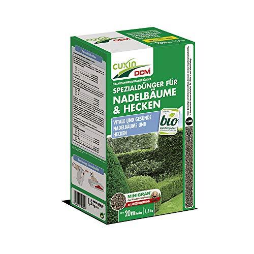 Cuxin Bio Dünger für Koniferen, Nadelbäume und Hecken⎜für ca. 20 m Hecke⎜NPK Dünger⎜(1,5 Kg)