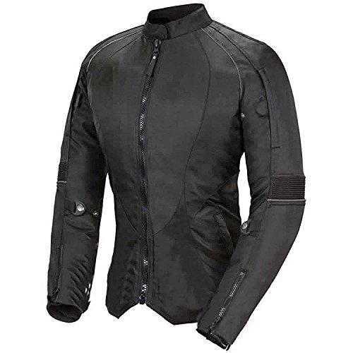 Newfacelook Damen Motorrad Motorrad jacke fraue wasserdichte Schutz M, schwarz