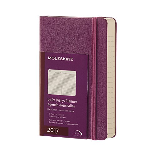 Agenda 2017 journalier poche rigide violet raisin