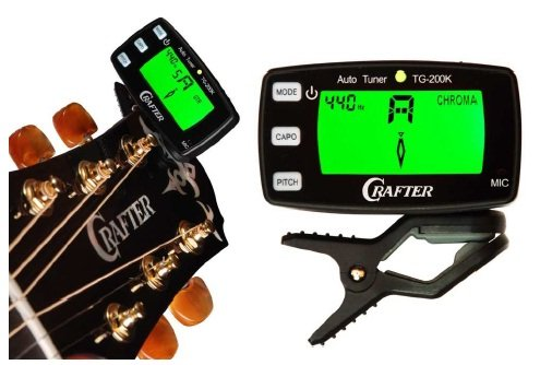 Crafter TG200K (neues Modell) Chromatic Headstock Tuner / Clip-On Stimmgerät