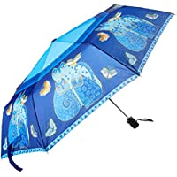 Laurel Burch Laurel Burch `Indigo Cats` Compact Umbrella