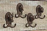 Boltze - Ganchos de pared para ropa (4 unidades), diseño de animales