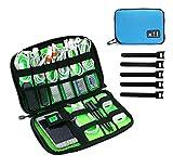 JamBer reisetasche elektronik organisator tasche für kabel, USB sticks, speicherkarte, Blau