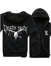 DEATH NOTE Lawliet Logo Print Long Sleeve Hoodies Coat Cosplay Costume