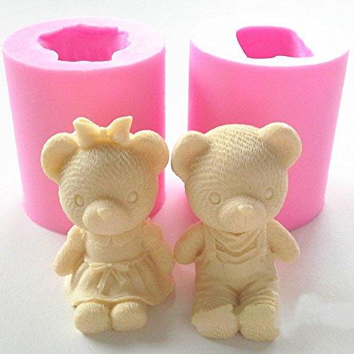 Cute Bear Boy Girl Silikon Seife Form Fondant Kuchen dekorieren Tools Sugarcraft Kuchen, Schokolade Form Gum Paste Kerze Formen mädchen