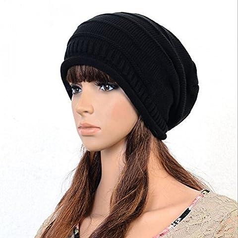 Pixnor moda Slouch Beanie Ribbed Skull Cap