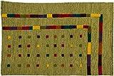 Lifetex.eu Poshti Majestic ca. 90 x 60 cm · Grün · handgewebt · Wolle · hochwertiger Teppich · LT16955