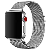 Apple Watch Cinturino 38mm, Cinturino Apple Watch 38mm con Unico Magnete di Blocco, Orologio Bracciale in Acciaio Inossidabile Watch Band per Apple Watch Serie 1,Serie 2,Sport,Edition 38mm (Argento)