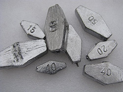 Fair Price Fishing Sargblei Grundblei 50g+60g+80g+100g+120g (je 1 Stck)