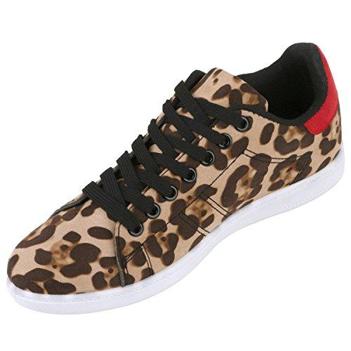 Japado , Sneakers Basses femme - Leopard Rot