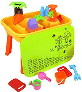 deAO Sand And Water Table With Lid And 20 Accessories